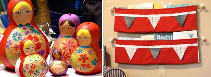 Gourd matroyshka dolls, book sling