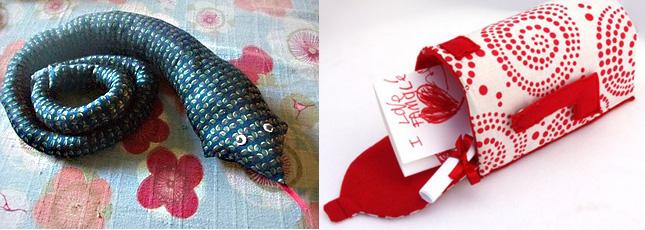 Tie snake+fabric mailbox