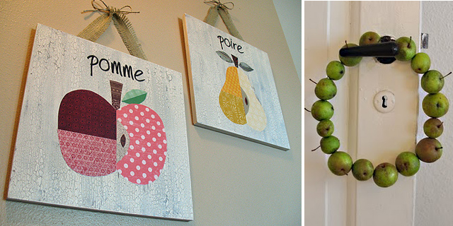 Fruit Decoupage Plaques, Apple Wreath