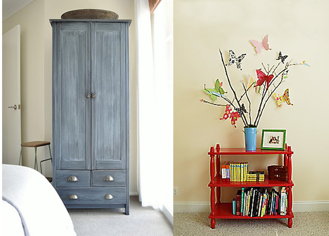 Wardrobe re-finish+butterfly arrangement