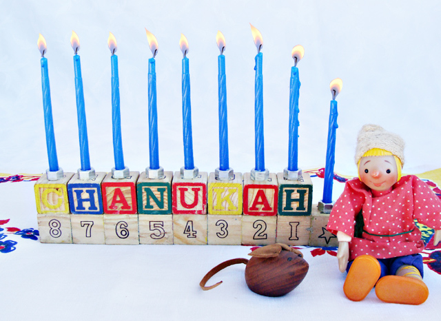 Hanukkah DIY Blocks Menorah 2