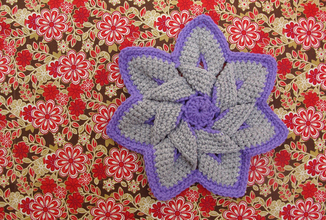 Crochet Flower Pattern Crocheted Flower Folded