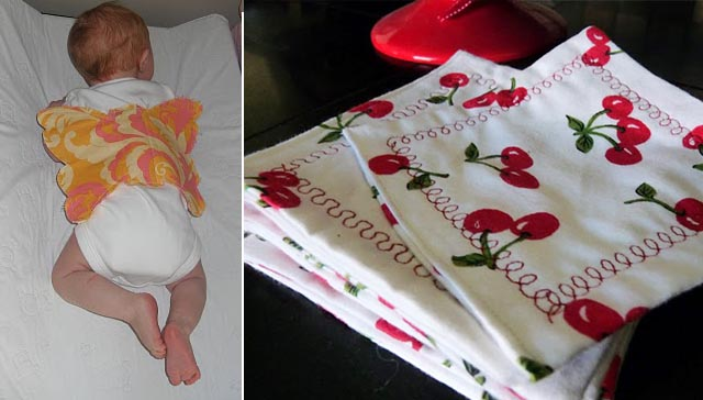 Butterfly baby onsie, cocktail napkins