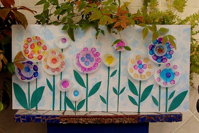 Cupcake Liner Field of Flowers