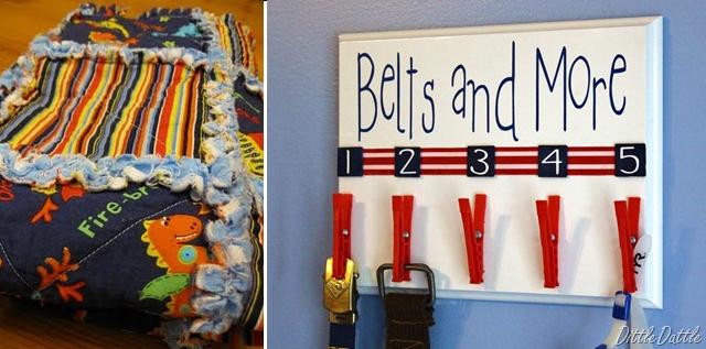 Rag Quilt and Belt Holder