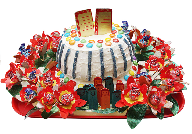 Shavuos Har Sinai Birthday Cake Silo