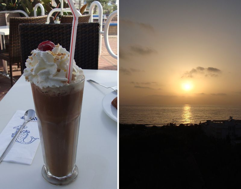 Nahariya Iced Coffee +sunset