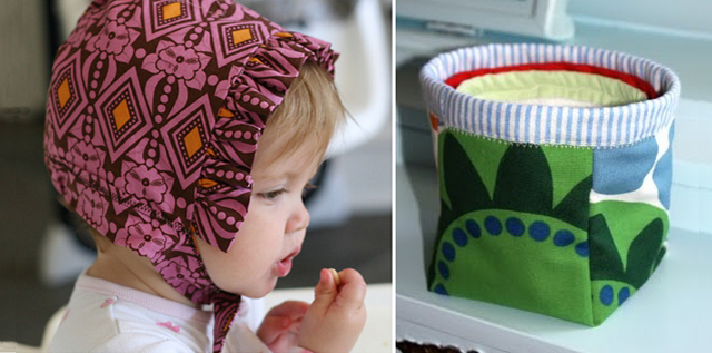 Reversible Bonnet + Fabric Containers