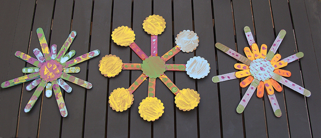 Popsicle Stick Sunburst Craft