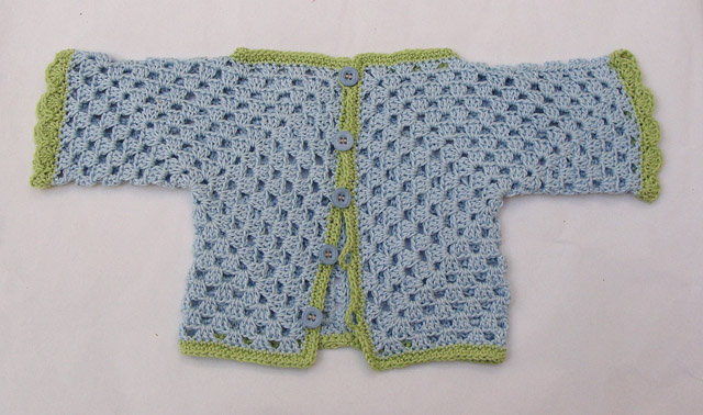 Crocheted Hex Baby Surprise Blue