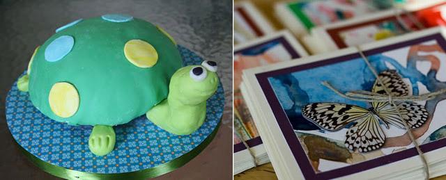 Turtle Cake + Kid's Art Cards
