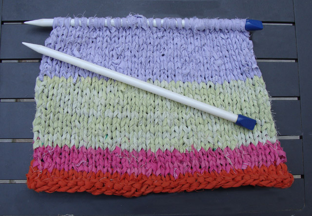 Knitting With Sheets Sample