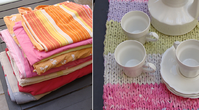 Knitting With Rags Before After