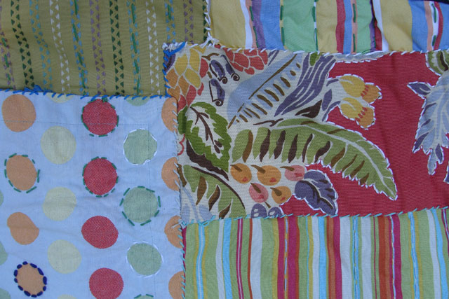 Quilt hand sewn primative3