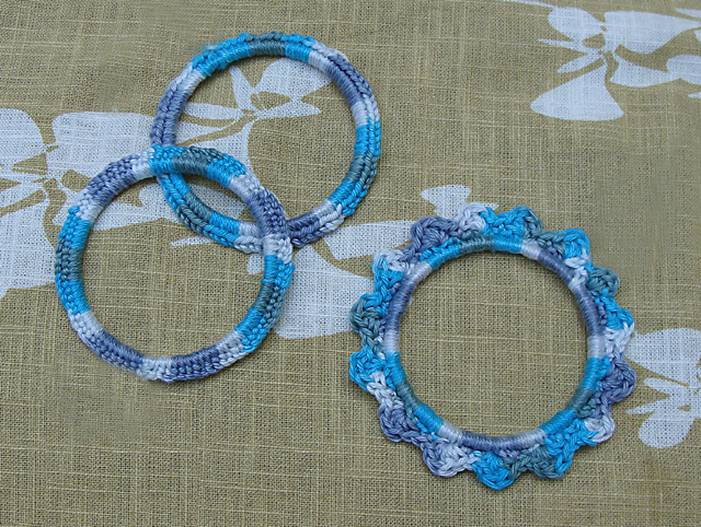Crocheted bracelets