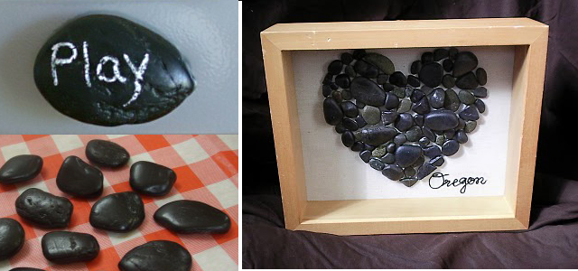Chalkboard Rocks,rock art