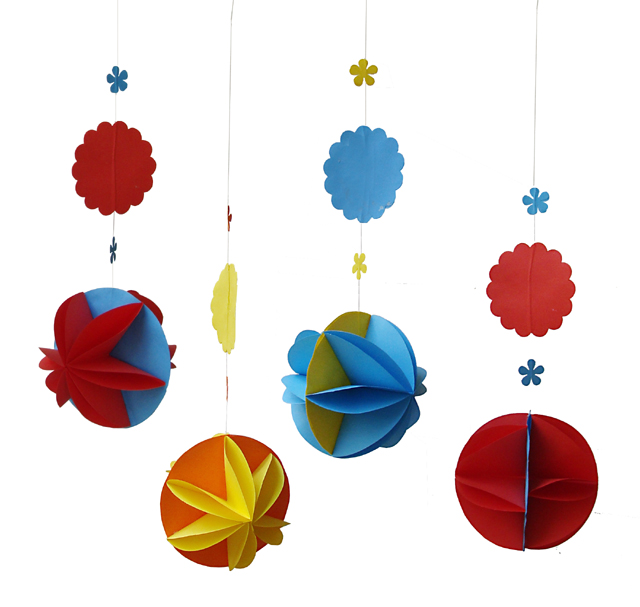 Paper Party Decorations-Flower Spheres For The Succah!