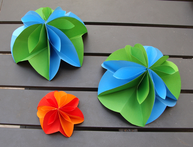 Paper Party Decorations, Flower Sphere, halves