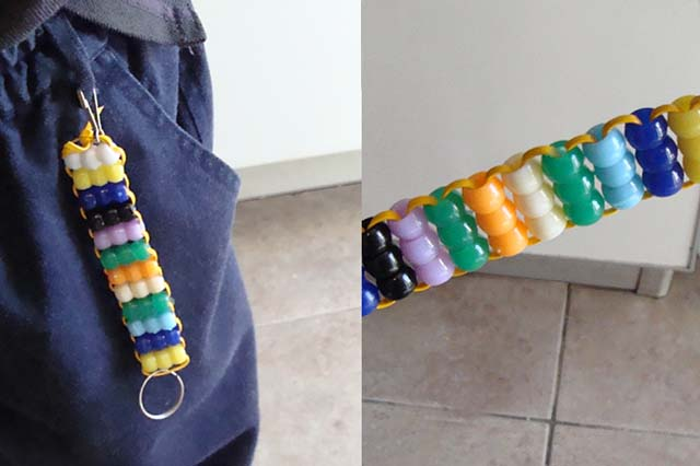 Bead Weaving For Kids Keychain