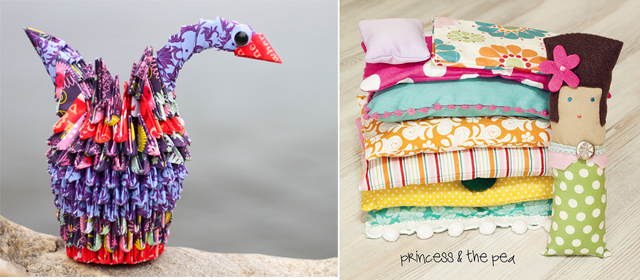 Princess and the Pea Softie, Paper swan Art