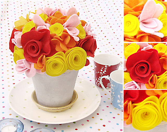 How To Make Felt Flowers For A Mixed Bouquet: Tutorial! - creative ...