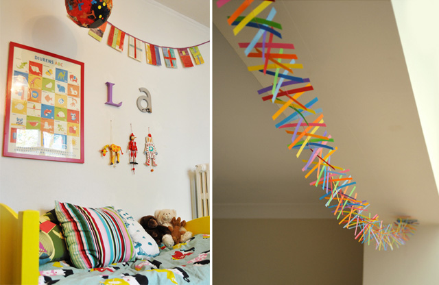 Newspaper Flag Banner+ Paper Strip Kalaidescope Banner