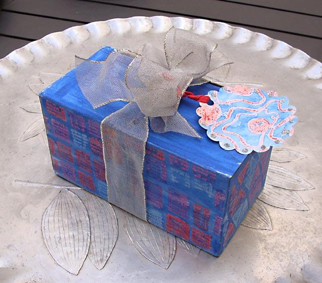 Crayon resist gift packaging+tags