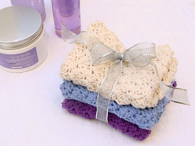 Handmade Holiday Simple Crocheted Washclothspure Luxury