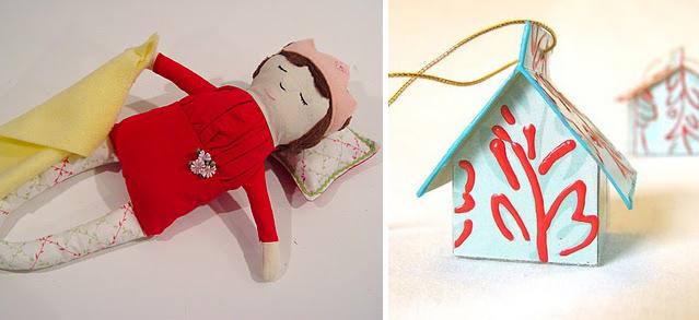 Sleeping Beauty Doll+tiny kleenex box houses