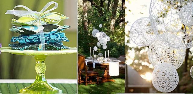 Lavender sachet+string globe chandelier