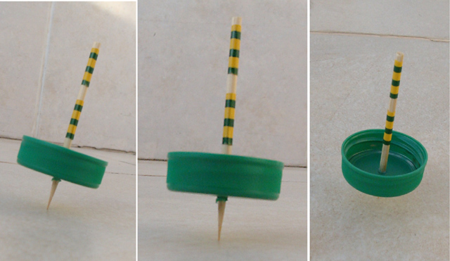 Hanukkah Spinning Top From Large Bottlecap 4