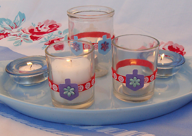 Hanukkah Candle Cups With Ribbon