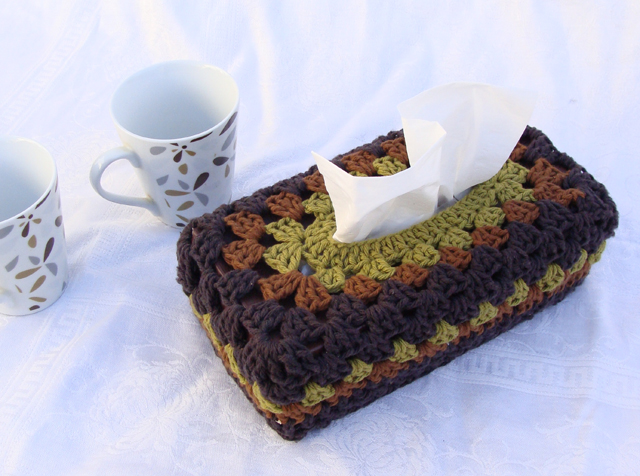 crocheted tissue box cover