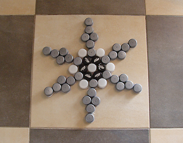 Bottle Cap Snowflake