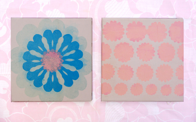 Tu B'Shevat Tissue Paper Collage Canvas-set