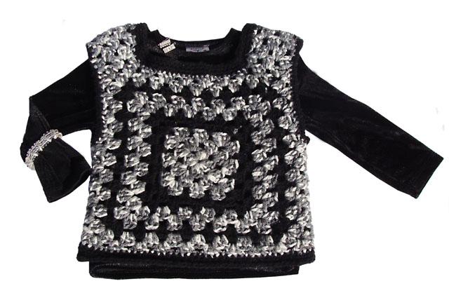Crocheted Granny Square Vest