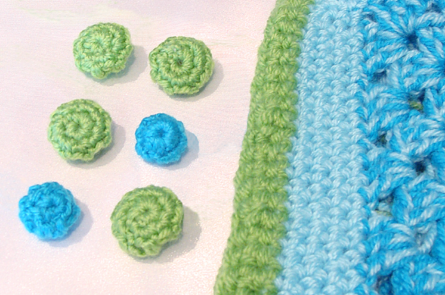 Crocheted Button Covers