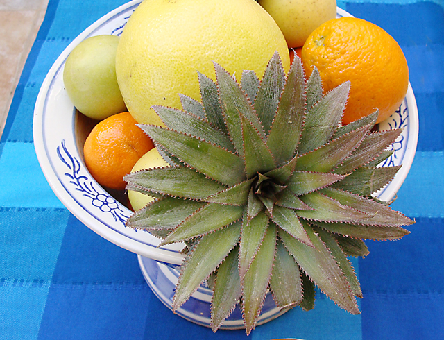 Fruit Arrangement With Pineapple Top