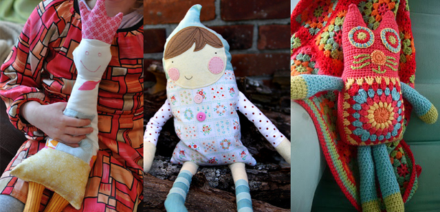 Softies, fabric and granny crochet