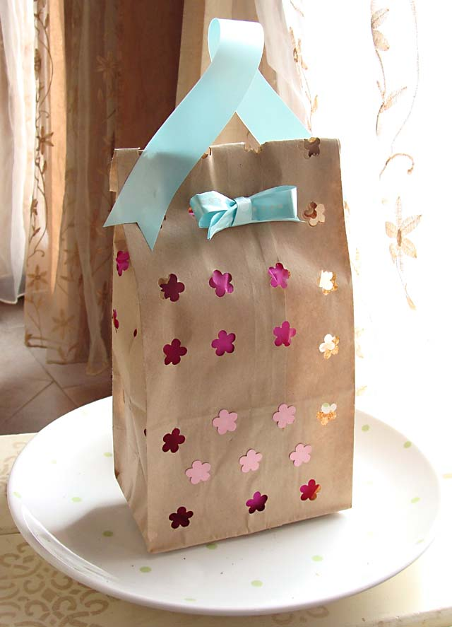 A Sweet Gift Or Treat Bag From A Paper Lunch Bag