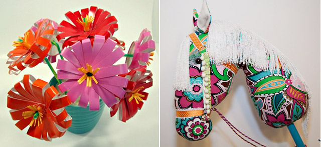 Paper Cup Flowers +hobby horse