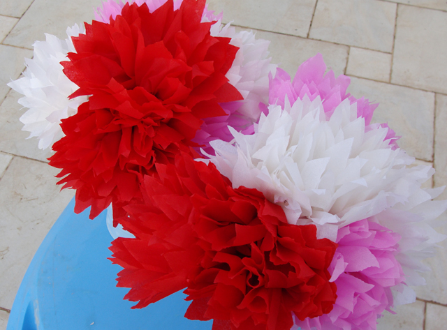 crepe paper flowers how to make. Mexican Crepe Paper Flowers