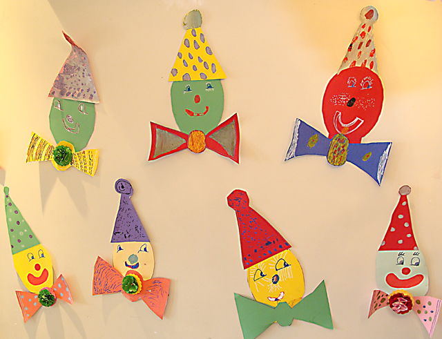 Purim Paper Clowns kid's craft