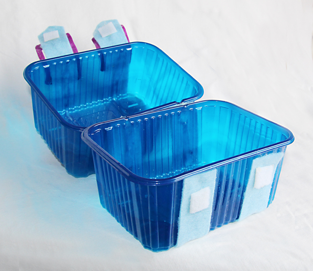 Recycled Plastic Container Gift Box open