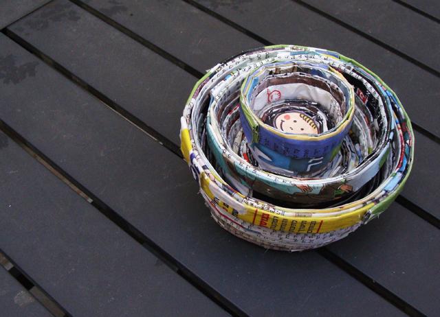 Magazine Page Nesting Bowls Nesting