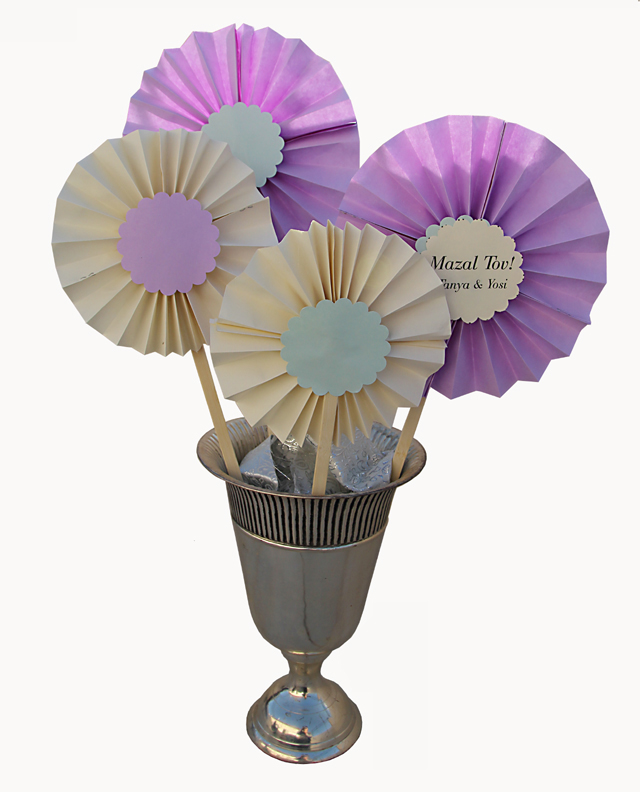 Paper Accordian Medallion Bouquet