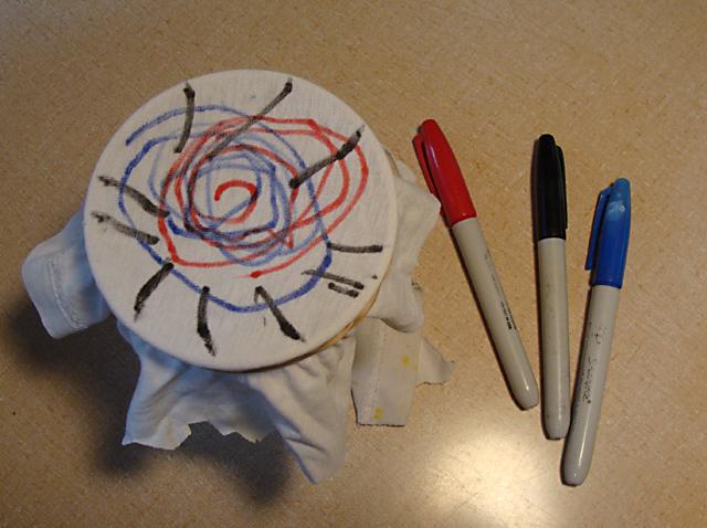 Sharpie Tie Dye Craft Experiment Before
