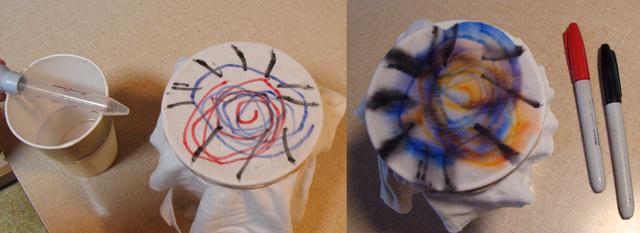 Sharpie Tie Dye experiment