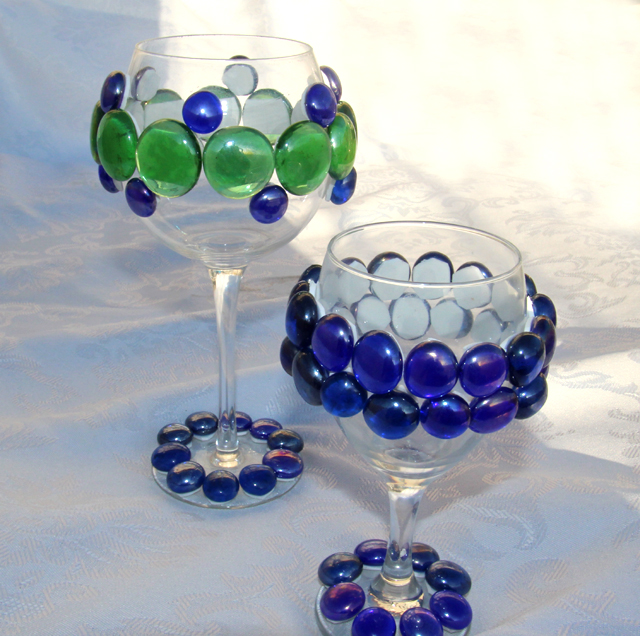 Jeweled wine Glasses for Passover Seder