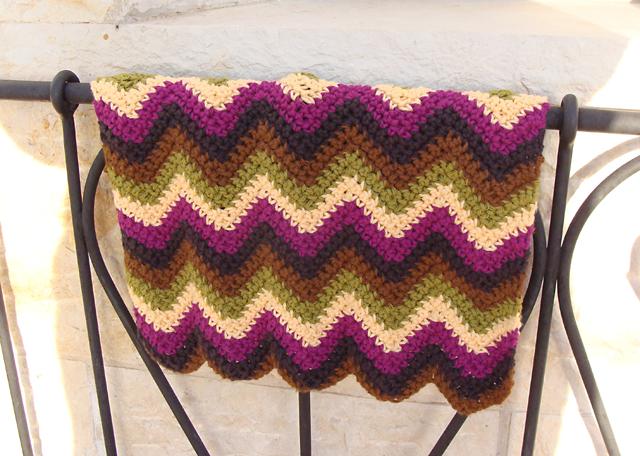 Handmade Holiday Crochet A Zig Zag Doll Blanket Creative Jewish Mom